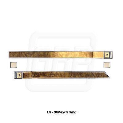 81 87 Regal Upper Door Panel Escutcheon Trim   Butterfly Walnut Wood Grain Left