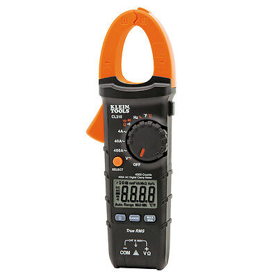 Klein Tools Cl310 Digital Clamp Meter Ac Auto-ranging 400a Trms True Rms