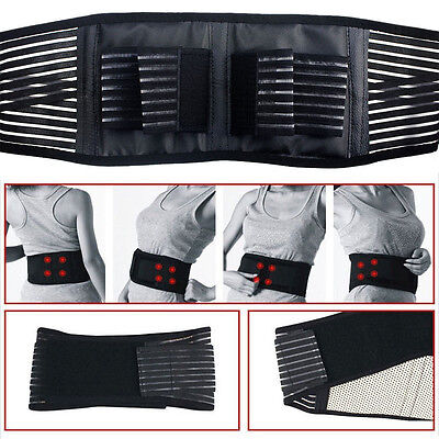 Magnets Back Pain - Back Lumbar Support Brace Pain Belt Tourmaline Heated Magnetic Therapy Lumbar