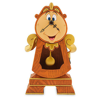 DISNEY PARKS BEAUTY AND THE BEAST COGSWORTH CLOCK WORKING 10