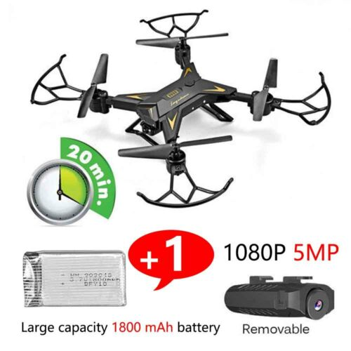 RC Drone Quadcopter With 5MP HD Camera WIFI 6-Axis Foldable Altitude Hold Kits