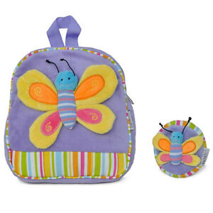 Soft butterfly Backpack with Matching Coin Purse Purple
