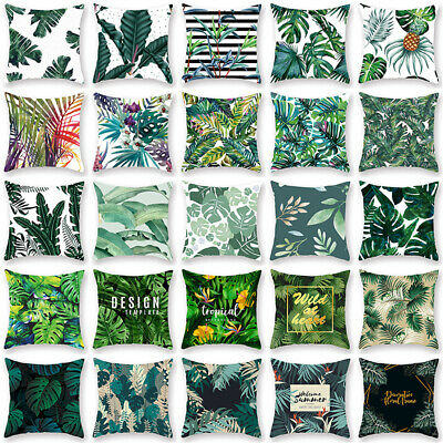Outdoor Floral Leaf Cushion Garden Waterproof Pillow Case Covers Home Decoration ()