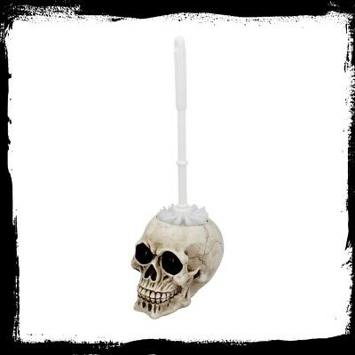 Brush with Death - Toilet Brush Holder Skull Skeleton WC Gothic Bathroom Decor   Decorative Toilet Brush Holder