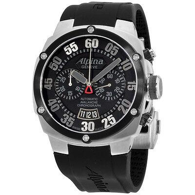 Alpina Avalanche Extreme Black Dial Silicone Strap Men's Watch AL850BB4AE6