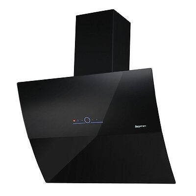 BERGSTROEM Kopffreihaube Dunstabzugshaube Glashaube Sensor Touch 90 cm Schwarz