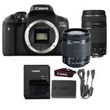 Canon EOS 750D / T6i 24.2MP DSLR Camera + 18-55mm IS STSM + 75-300mm Lens Kit