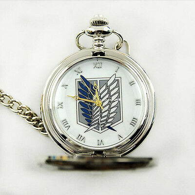 Hot Anime Attack On Titan Couting Legion Survey Corps Pocket Watch Cosplay Toy