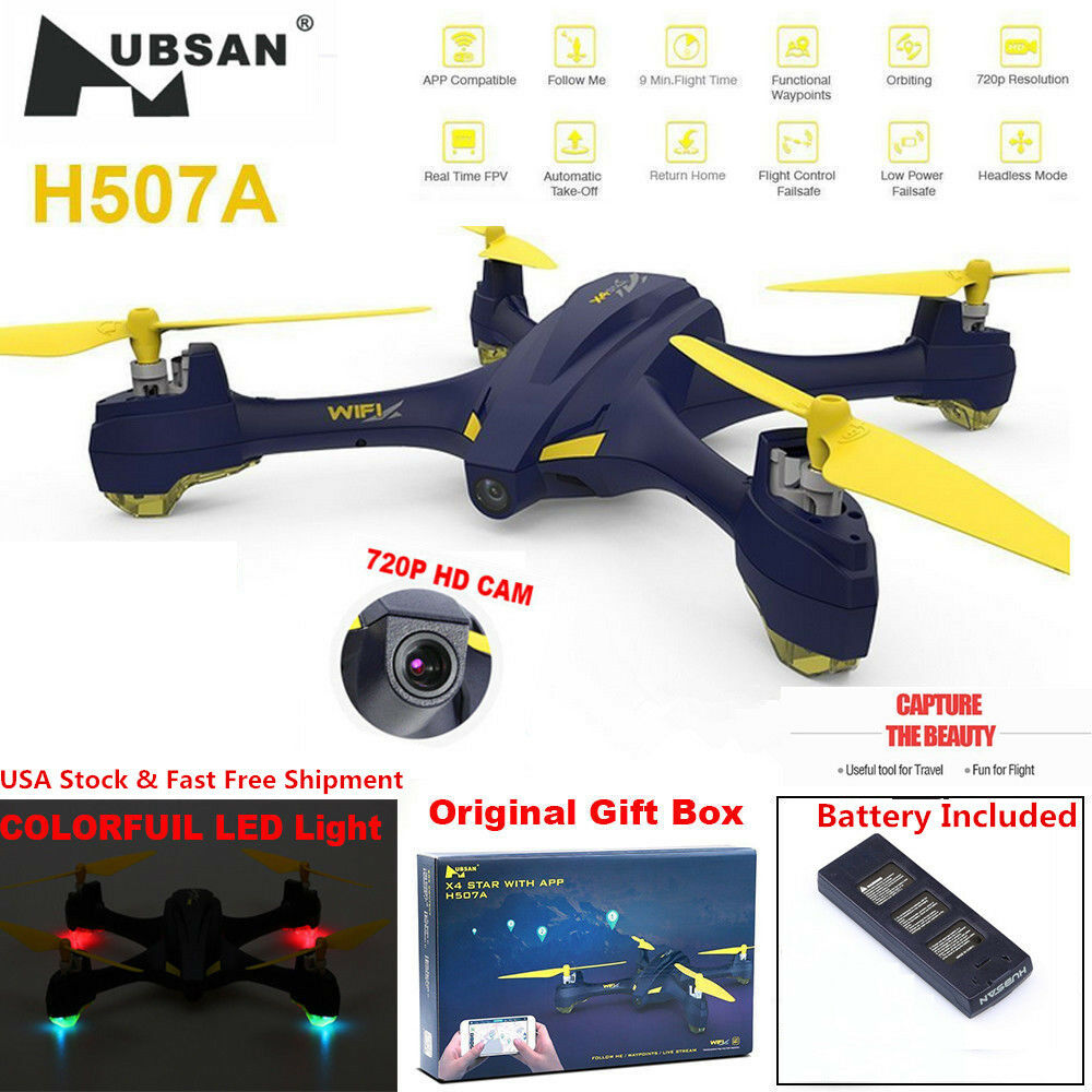 Hubsan H507A X4 Star Pro App Driven RC Quadcopter 720P Wifi  FPV GPS Waypoint US