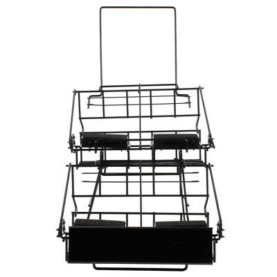 4 Airpot Coffee Display Commerical Black Wire Pot Rack Two Tier W Drip Trays