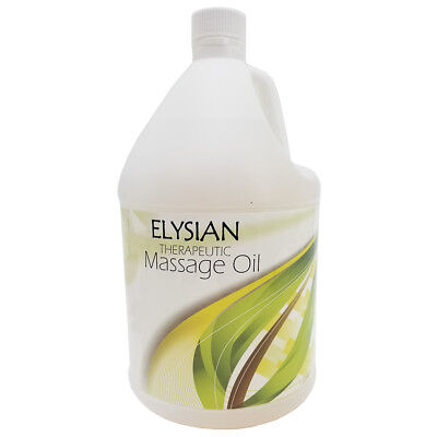 NEW! UNSCENTED ELYSIAN THERAPEUTIC DEEP TISSUE MASSAGE OIL - 1 GALLON - NATURAL ()