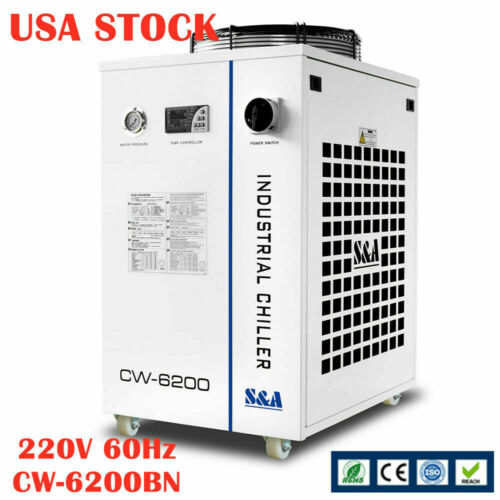 US STOCK CW-6200BN Industrial Water Chiller for 600W CO2/400W Solid-state Laser