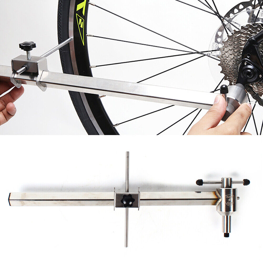 Edelstahl Fahrrad Umwerfer Schaltauge Alignment Gauge Bike Repair Tool 43*9*7CM!