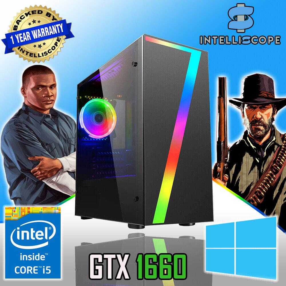 Computer Games - FAST Quad Core i5 GTX 1650 Gaming PC 16GB RAM SSD & HDD Win 10 Desktop Computer
