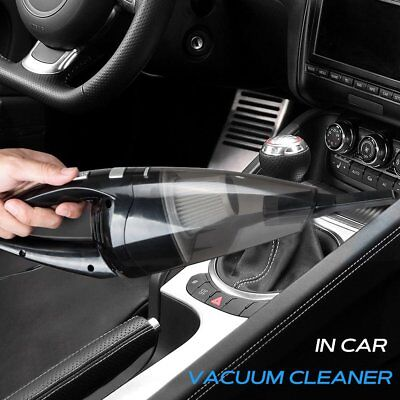 120W Cordless Handheld Auto Car Vacuum Cleaner Home Wet/Dry Duster Dirt Clean