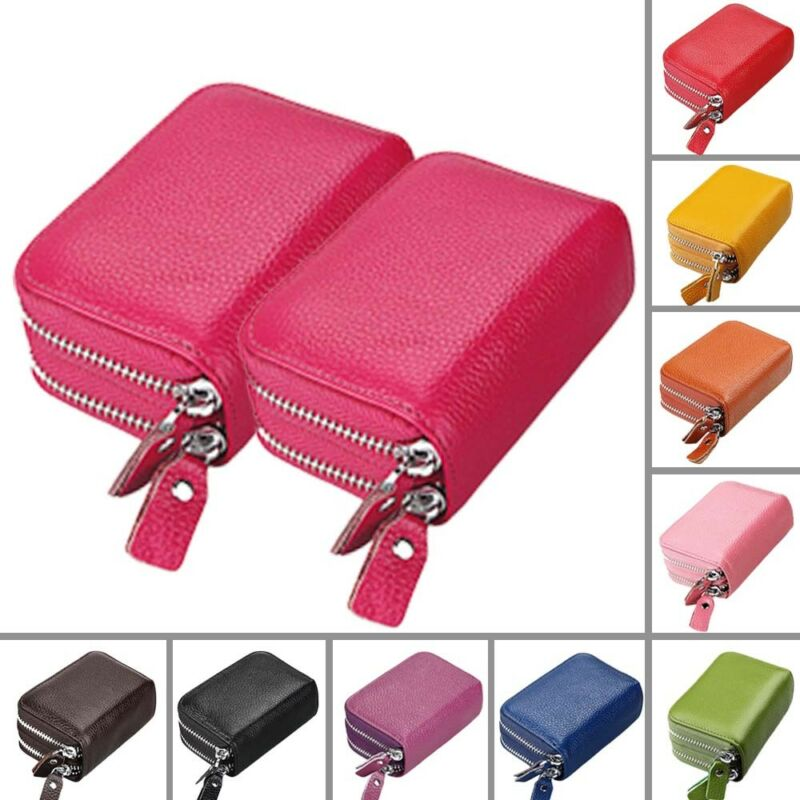 Rfid blocking slots credit id business card case holder pocket as different computers display colors differently the color of the actual item may vary slightly from the above images thanks for your understanding reheart Choice Image