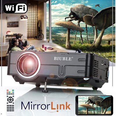 7000 lumen WIFI LED HD 1080P Projector Multimedia Home Theater Cinema Miracast