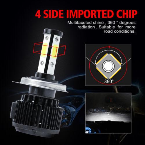 как выглядит 4-Side H4 9003 LED Headlight High Low Beam Conversion Kit Canbus 6000K HID White фото