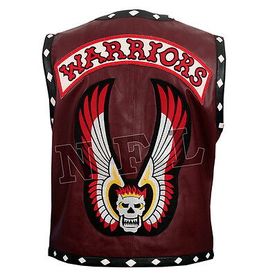 THE WARRIORS MOVIE LEATHER VEST JACKET - BIKE RIDERS HALLOWEEN COSTUME - Warriors Movie Costume
