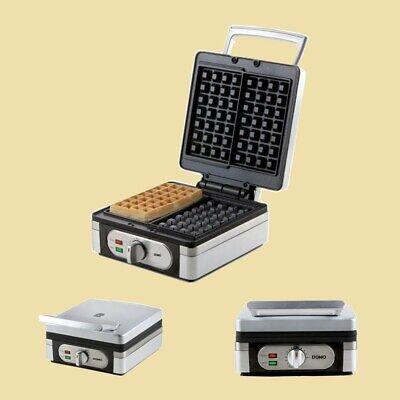 Domo Waffeleisen / Waffelautomat für belgische Waffeln DO 9047 W - 1400 Watt
