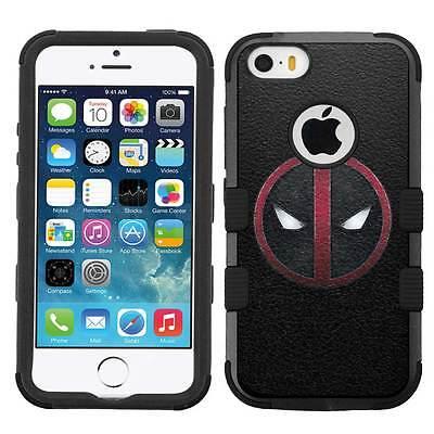 Deadpool #L Rugged Hybrid Armor Case for iPhone SE/6/6S/7/Plus/Galaxy S7/S8/Plus