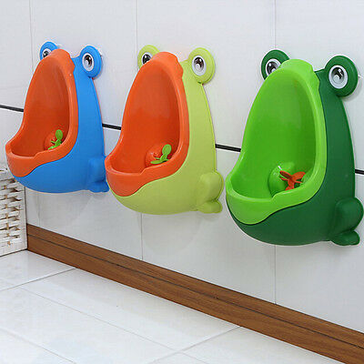 Frog Children Potty Toilet Training Kids Urinal for Boys Pee Trainer Bathroom SF