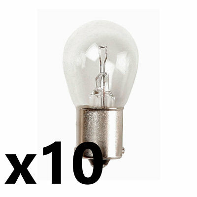 Car Parts - 10x 382 12v 21w SCC BA15s Bulb Brake/Indicator/Reverse/Rear Fog Car Van
