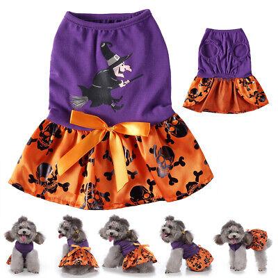 Halloween Hex Schädel Hunde Kleidung Skelett Cosplay Party Welpen Winter Kostüm