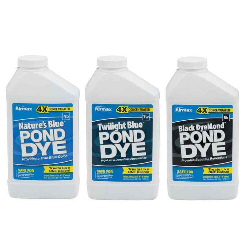 Airmax 4x Concentrated Pond Dye, Liquid Color, Safe for Recreation, Wildlife