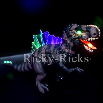 Walking Dinosaur Spinosaurus Light Up Kids LED Toy Figure Sounds Real Movement](Toy Dinosaur)