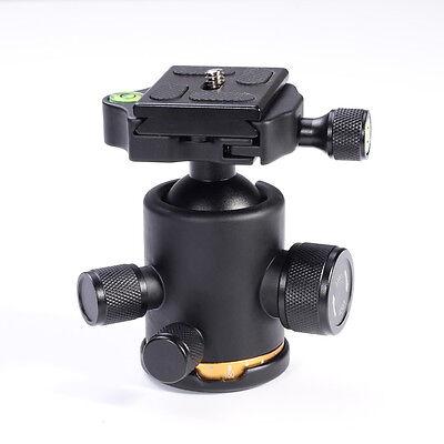 12Kg Swivel Tripod Ball Head+Quick Release Plate for DSLR CAM Photo Video Studio