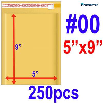 Size00 5x9 Kraft Bubble Padded Mailer Envelope Self-sealing Shipping Bag 250ct