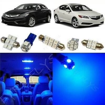 12x Blue LED Interior Lights Package Kit for 2013-2018 Acura ILX +Tool AX1B