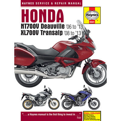 Honda NT700V Deauville XL700V Transalp 2006-13 Haynes Workshop Manual
