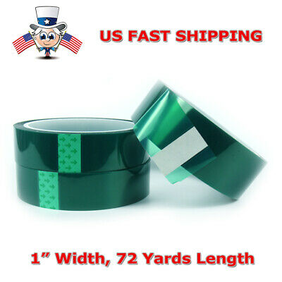 Usa Seller 2cm X 66m Tape Sticky High Temperature Heat Resistant Polyimide Green