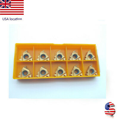 US- 10pcs 16ER AG60 BP010 high quality Threaded turning inserts CNC TOOL Carbide