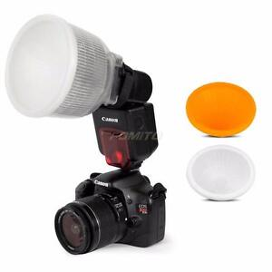 Universal Lambency Flash Diffuser with 2 Domes