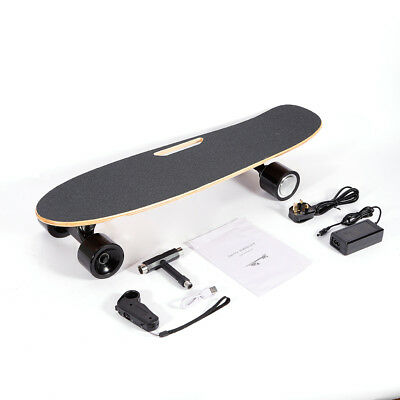 20km/h Electric Longboard Skate board Maple Wireless Remote Control Motor UK