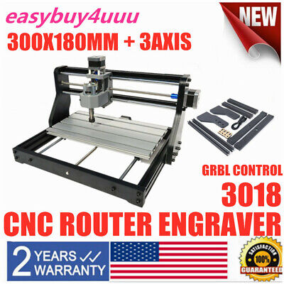 Pro 3018 Cnc Machine 3 Axis Router Engraving Pcb Wood Diy Mill Laser Module Cut