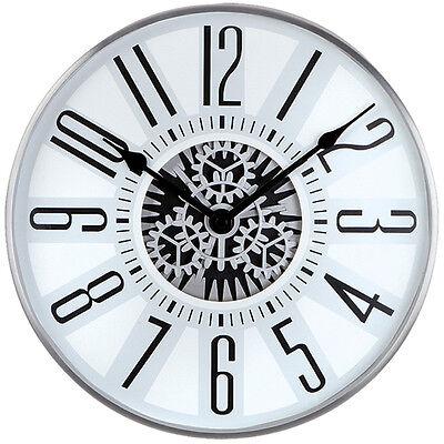 NEU Designer Wanduhr Zahnräder Uhr mit Innenleben Atlanta Büro Business Skelett