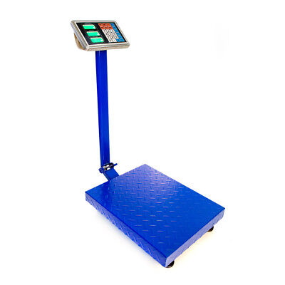 300kg100g 660lb Digital Shipping Postal Scale Floor Iron Sheet Platform Weight