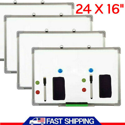 Lot Magnetic Whiteboard 16 X 24 Inch Dry Erase White Board Wall Hanging Board