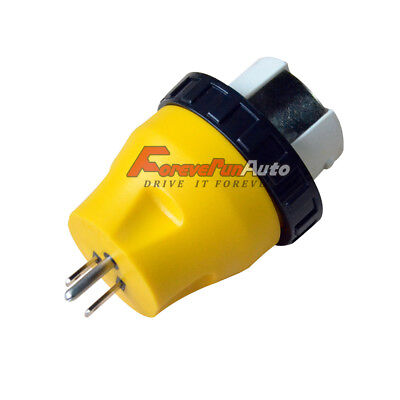 New RV Locking Adapter 15A Amp Male to 50A Amp Female Twist Lock Power Cord Plug