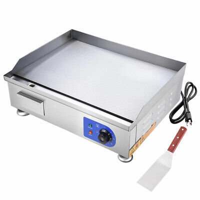 24 Commercial Electric Countertop Griddle Flat Top Grill Hot Plate Bbq 2500w