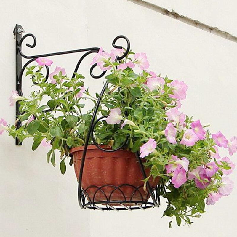 Wand Pflanzen Ampel Blumen Windspiel Laternen Halter Wandhalter 24 cm Metall