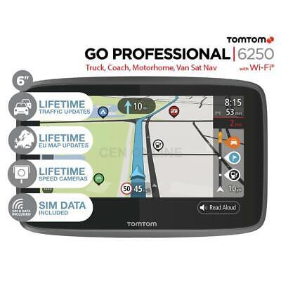 TomTom GO Professional 6250 GPS Sat Nav Truck HGV Lorry Van Bus Coach Trucker