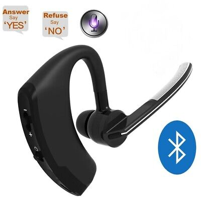 Wireless Bluetooth 4.0 Headset Headphone Hands Free Car Kit Voice Control