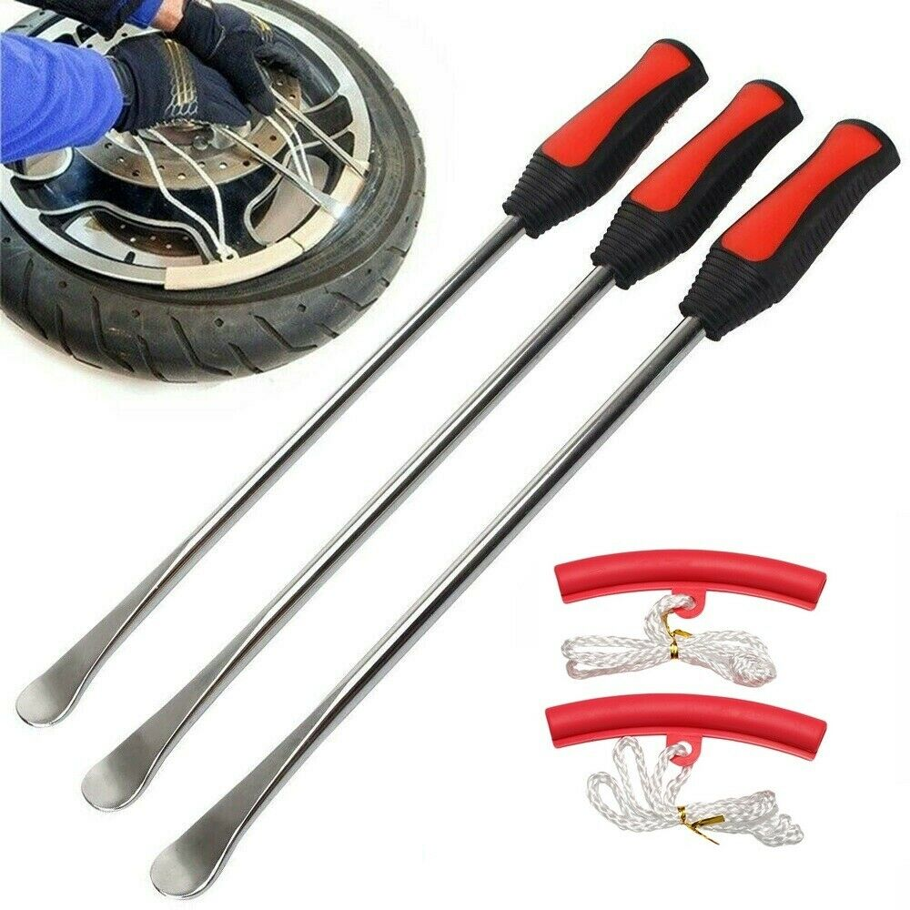 Spoon Motorcycle Tire Levers Irons Changing Tool With Two Rim Protector Kit Pack of 3