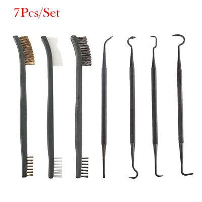7Pcs/Set Gun Rifle Pistol Cleaning Brushes Copper/Brass/Nylon Brush Kit + (Cleaning Brass Copper)