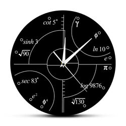 Math Irrational Numbers Wall Clock Science Mathematical Wall Art Modern Clock